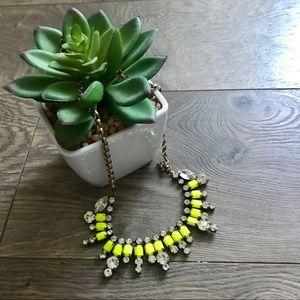 J. Crew Neon Yellow Necklace